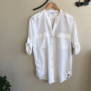 Tops - {Calvin Klein}blouse